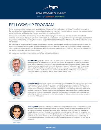 Fellowship Program Bios Flyer