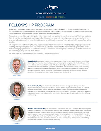 Fellowship Program Bios Flyer